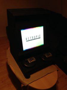 Arcade machine cabinet: in action